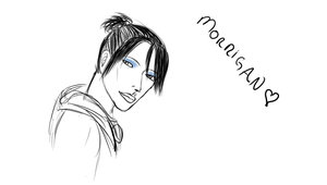 Daily Sketch- Morrigan  sorta by Shaleene1