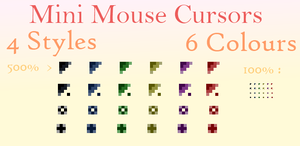 Mini Mouse Cursors by Petra1999