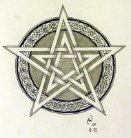 Double pentacle by LadyCelticRose