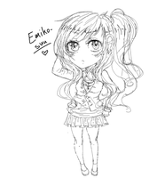 i drew an sketch of an emi chibi in paint hahh ovo by Emiko-suu