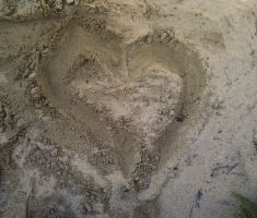 Heart in the Sand by LilyBayer