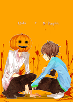 AT: Kenta and Mr. Pumpkin by matsudayo