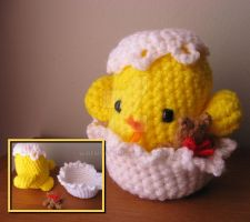 "Amigurumi Chick ""Nestor"" by WireMySoul"