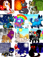 Pixel Tag Commissions Batch 1 by tsubukichi