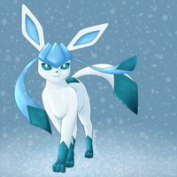 Glaceon in the Snow by quasicoatl