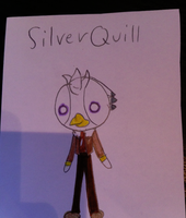 Silve Quill in my design by burntuakrisp