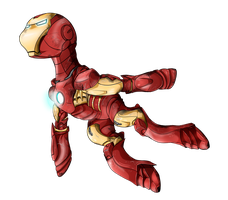 Avenger Pony - Iron Man by flamevulture17