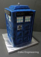 Tardis Cake 4 by cake-engineering
