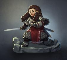 The Dwarf Captain by zazB
