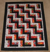 Monster Party Rail Fence Quilt by quiltfreak8