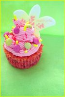 Raspberry cupcake by Melhyria
