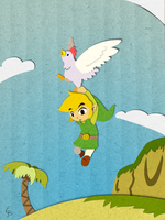 A Cucco landing by Dark-wings-eagle