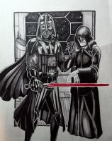 Darth Vader and his boss. by SliceofFate