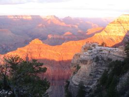 Grand Canyon- First Sunset by GarnetWings