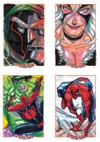 Spider-man promo sketch cards by theFranchize