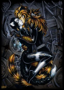Cats kiss by Candra