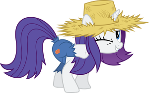 Rarity scratches herself by dasprid