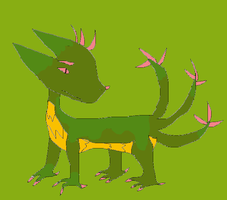 Greeny Dragon...Thing... by PokeLover456