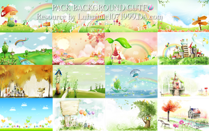 150201 Pack Background Cute by LuHannie1071999