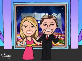 Pat Sajak and Vanna White by DJgames