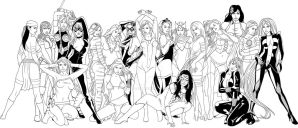 marvel hotties v2 line art by Jaja316