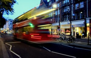 london - bus in the night by moiraproject