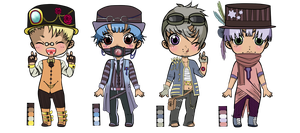 Steampunk batch 1 [Auction] - (2/4 OPEN) by StuffedUrsidae