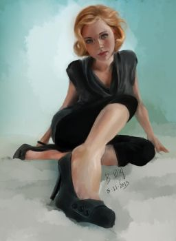 Sitting in Perspective - Paint Sketch 2013-08-11 by iamniquey