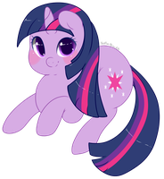 Chibi Twilight Sparkle by Xeella