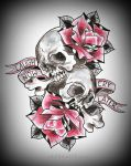 CRY LATER tattoo design by oldSkullLovebyMW