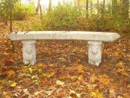 Lion Bench by dyingbeauty-stock