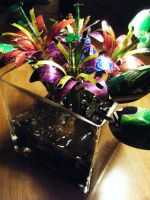 Recycled Popcan Lily Arrangemt by Christine-Eige