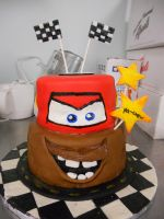 Cars Cake by katiesparrow1