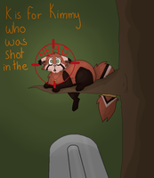 :AC: K is for Kimmy who was shot in the head by Raviolios