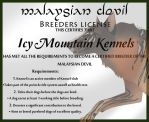 Malay devil License by blueshinewolfstar1