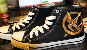 Hunger Games Shoes by Kloofcat