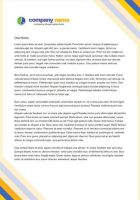 Color Letterhead Template by danbradster
