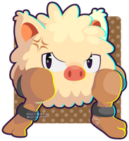 057 Primeape by Miss-Glitter