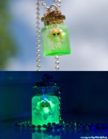 Legend of Zelda Inspired Green Aura Fairy Necklace by IvrinielsArtNCosplay