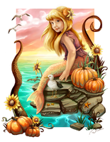 The Pumpkin Mermaid by charfade
