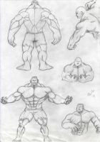 male poses (hulk) by alch3mist-design