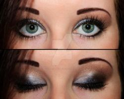 Brown and silver eyeshadow by Creativemakeup