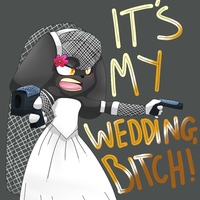 Black... in a wedding dress. (Raven Ink) by 8feet