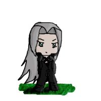 Chibi Sephiroth by cadday