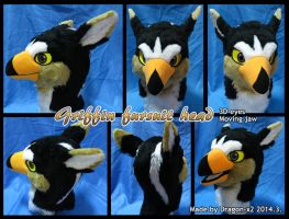 Griffin fursuit head by dragon-x2