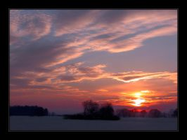 Sunset in Winter by Hartmut-Lerch