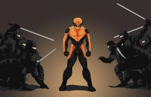 Wolverine v Ninjas   by WeaponXIX