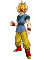 Goku Jr. Adult Super Saiyan 2 by SpongeBoss