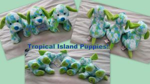 Tropical Island Puppies by Vesperwolfy87