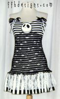 tattered fishnet NBC dress by funkyfunnybone